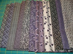 1/2yd Mourning Grays & Purples