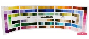Kona Swatch Card